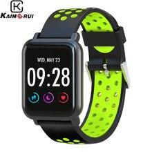 Купить с кэшбэком Smart Watch Men Heart Rate Gorilla Glass IP68 Waterproof Fitness Tracker Clock Smartwatch Band for IOS Android Wearable Devices