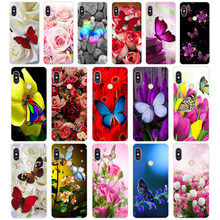 232WE Red butterfly on white roses flower Case Soft Silicone Tpu Cover phone Case for xiaomi redmi 6 5A 6A 5Plus note 5 6 5A Pro(China)