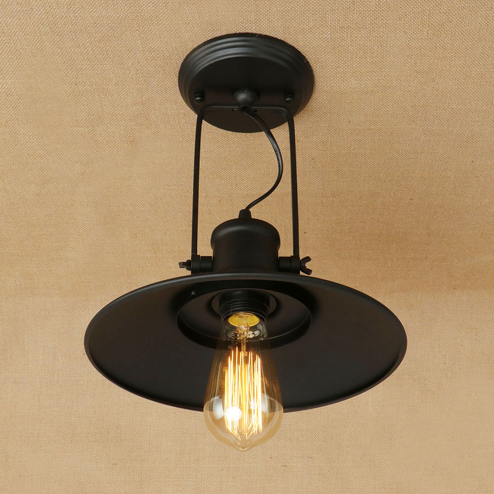 Ceiling Lights Doxa Nordic Industrial Led Ceiling Lamp Iron Ceiling Lighting Fixtures Black Luminarias Parateo Umbrella Avize Kitchen Spots Complete In Specifications Lights & Lighting