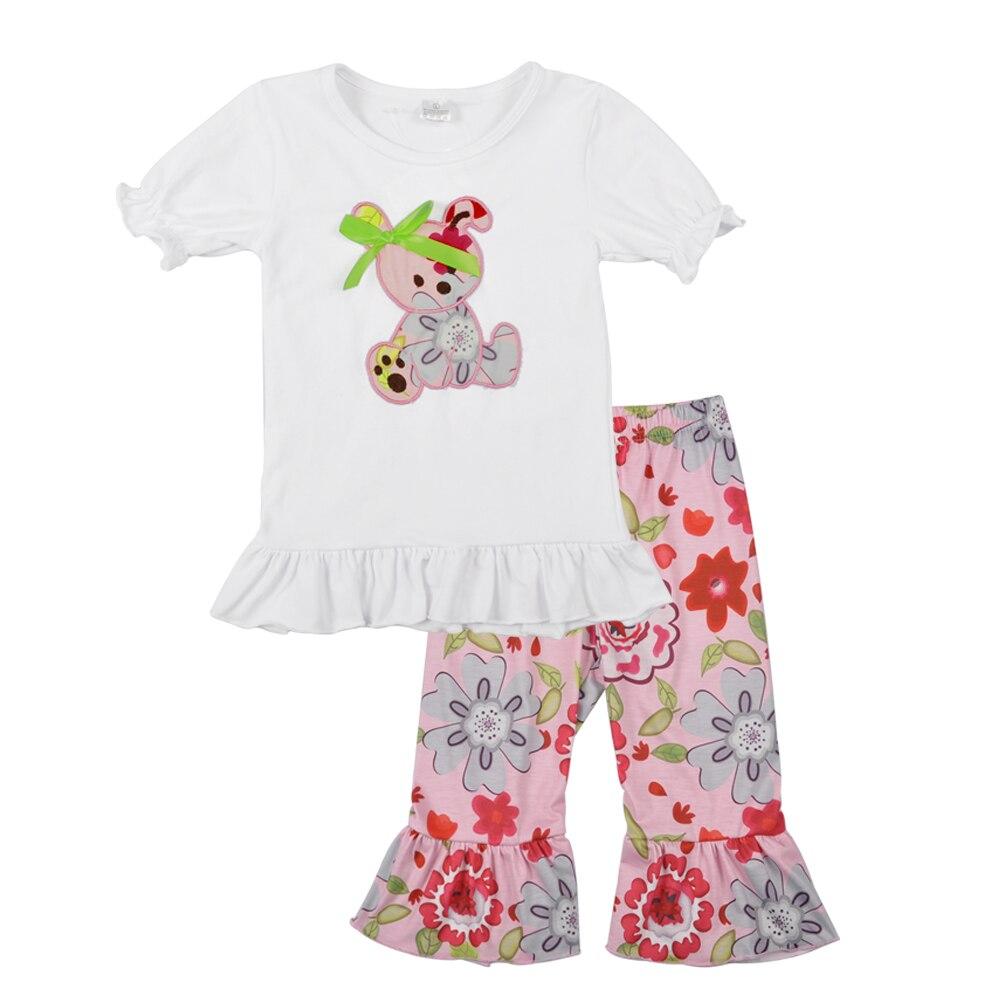 Free Shipping New Design Toddler Girls Clothing Set Summer