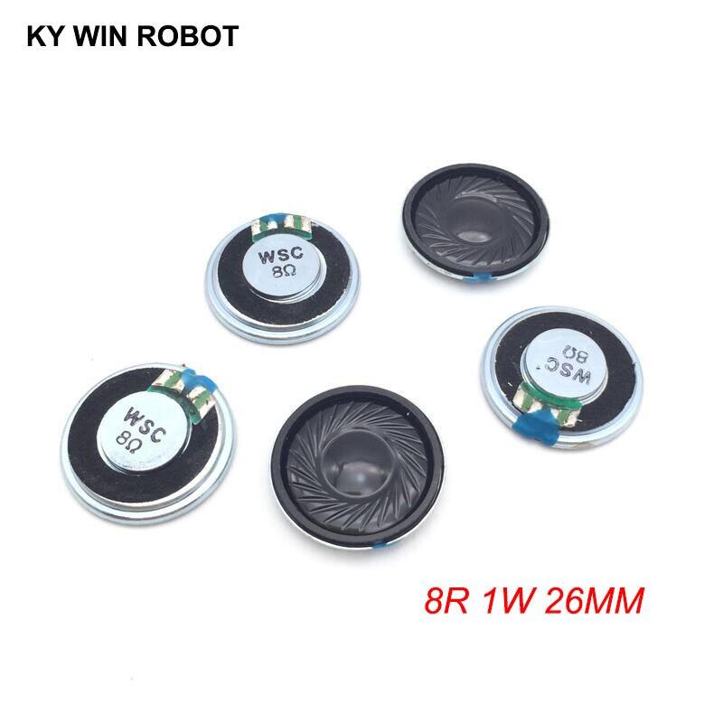 5pcs/lot New Ultra-thin Mini Speaker 8 Ohms 1 Watt 1W 8R Speaker Diameter 26MM 2.6CM Thickness 5MM