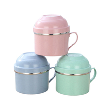 Portable Cartoon Japanese Stainless Steel Lunch Box Snack Cup Fast food Food Storage Container Leak-proof Thermal Insulation