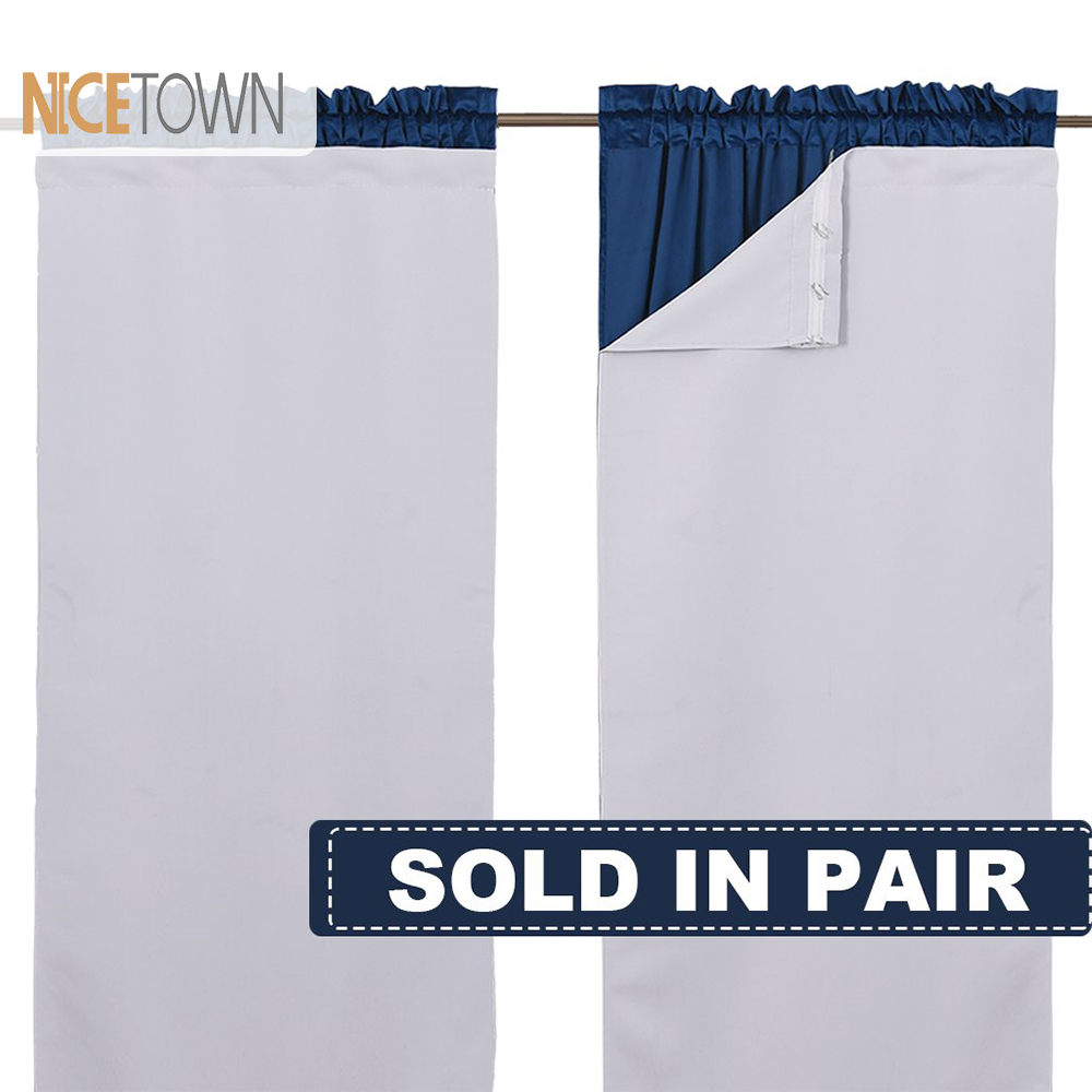 Nicetown Blackout Draperies Curtain Liners Thermal