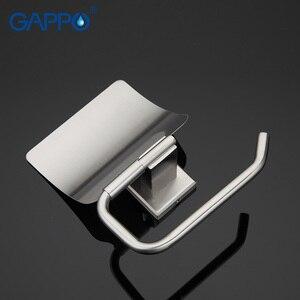 Image 5 - GAPPO kağıt tutucu banyo duvara monte tuvalet kağıdı tutucular paslanmaz çelik rulo kağıt askı kapaklı banyo aksesuarları