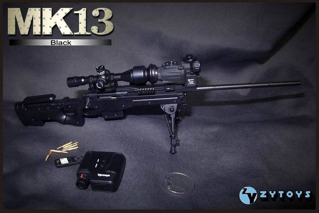 ZY TOYS MK13 1:6 scale Sniper rifle model for 12inch doll accessories