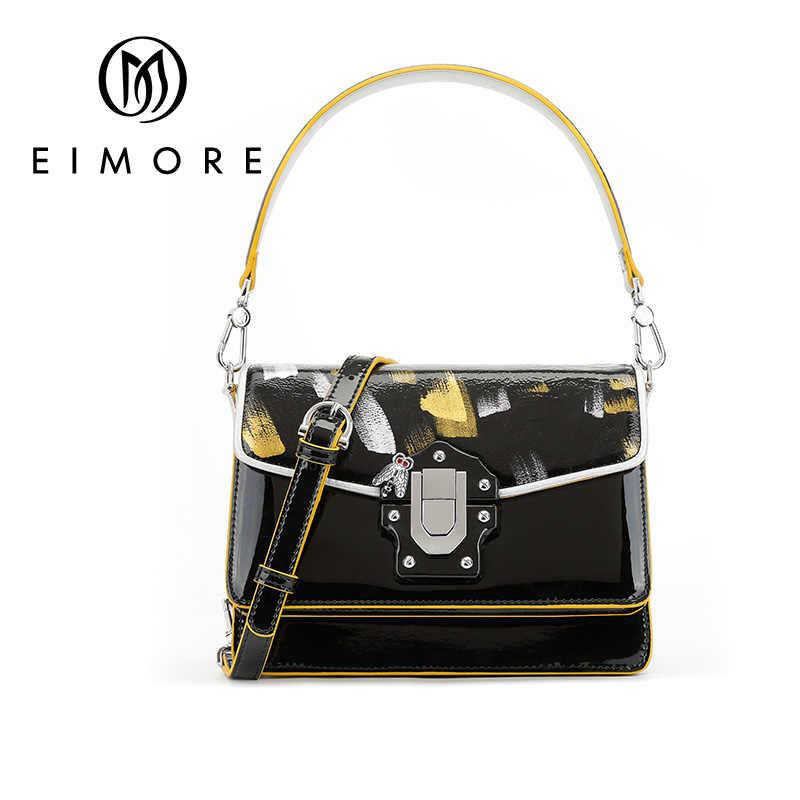 Eimore Baru Desain Wanita Tas Tangan Kulit Fashion Wanita Tas Selempang Bahu Anti-Theft Tote Bag dengan Kunci Khusus Tas