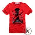 Superhéroe ropa Wolverines T Shirt Boy hombres algodón de la camiseta Marvel Movie figura camiseta