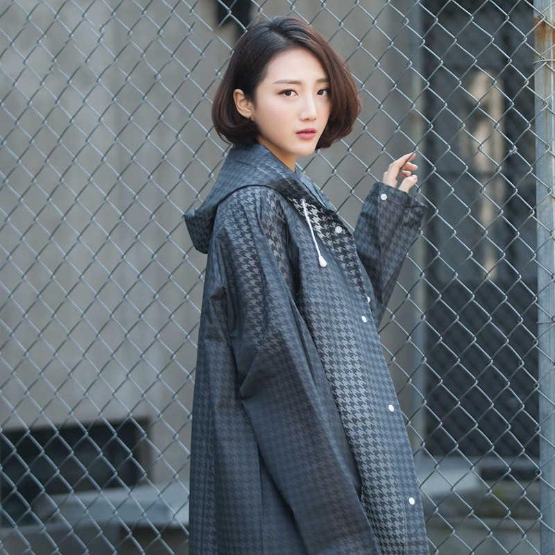 72203c184e1 ... Eva Transparent Raincoat Adult Hiking Japanese Men And Women Korean Fashion  Coat Long Poncho For Travel ...