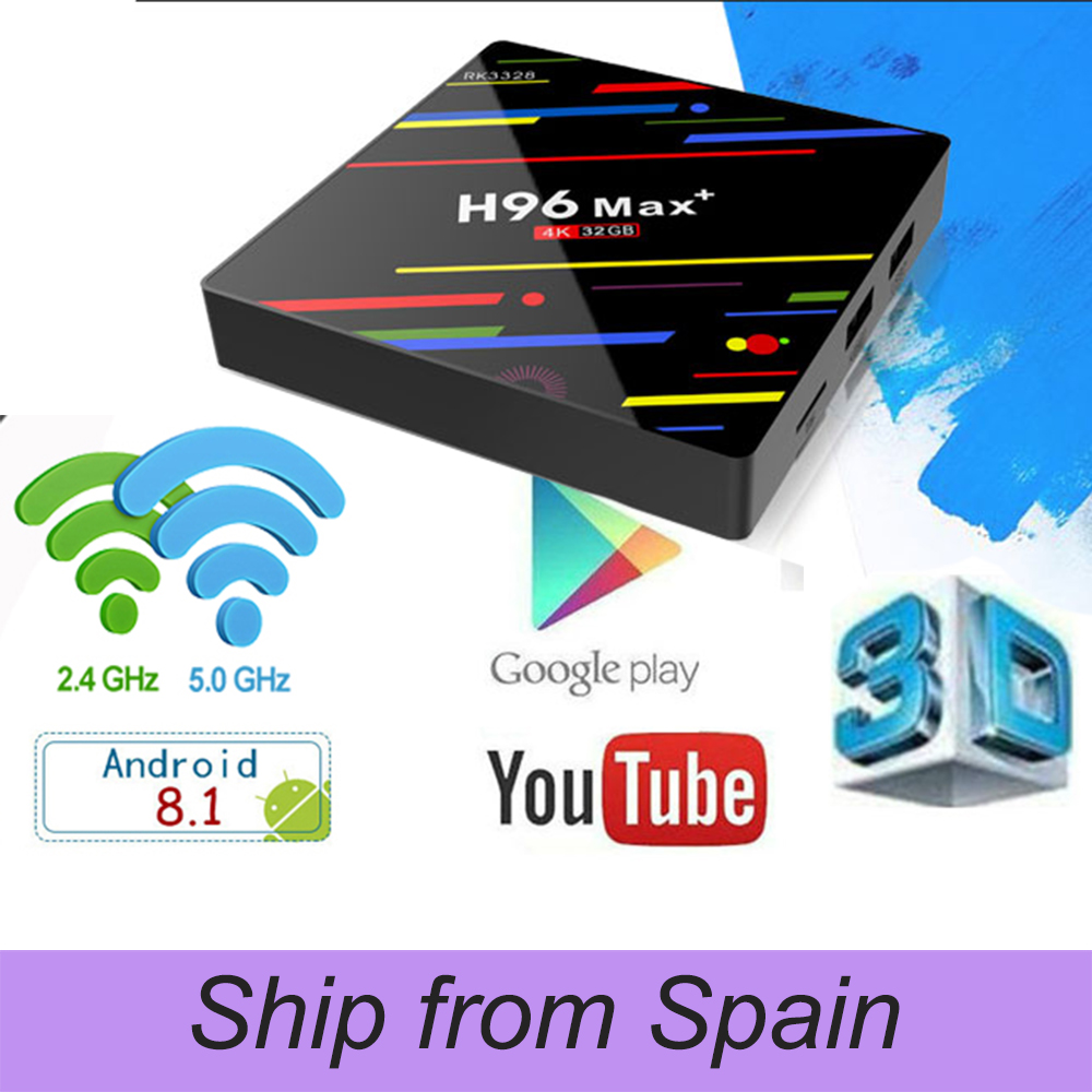 H96 MAX Plus Android 8.1 4G 32G Set Top Boxes 4K Ultra HD H.265 Smart TV Box USB 3.0 Dual Wifi 2.4/5.0G Media Player ugoos ut3s android linux dual boot rk3288 4g 32g media player