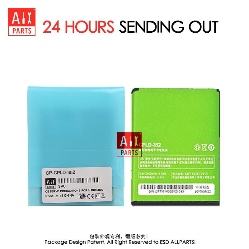ALLPARTS 100 ORIGINAL 2500mAh CPLD 352 Li ion Mobile Phone Battery For font b Coolpad b