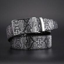 التلقائي مشبك حزام جديد جلد طبيعي ثعبان الحبوب حزام للرجال الساخن Ceinture الرجال أحزمة فاخرة مصمم جودة عالية