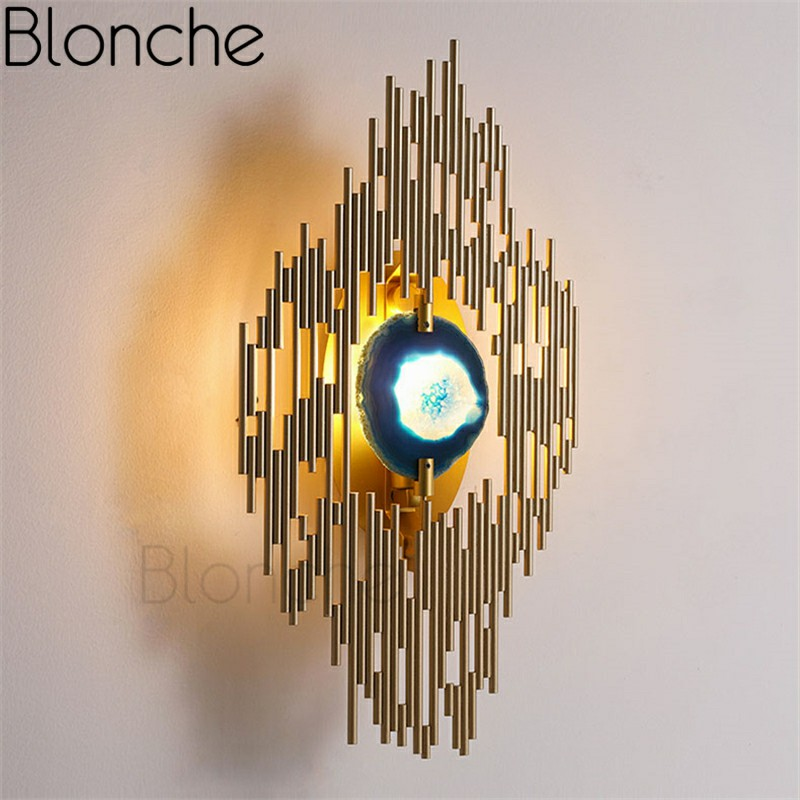 Modern Led Wall Lamp Gold Peacock Tail Wall Sconces for Living Room Restaurant Bedroom Home Decor