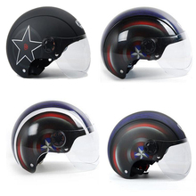 New Captain America motorcycle helmet summer half face anti-uv lens visor safety automobile electric bike helmet