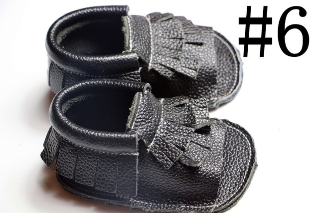 10 pairs/lot 2016 Black spring Genuine cow Leather baby boys girls shoes First Walkers Toddler baby moccasins for new born baby