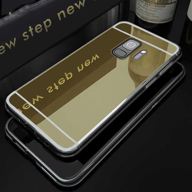 ミラー携帯電話ケース三星銀河 S9 S8 A8 プラス 2018 S5 S6 S7 エッジ A3 A5 A7 J3 j5 J7 ネオプロ 2016 2017 バックカバー
