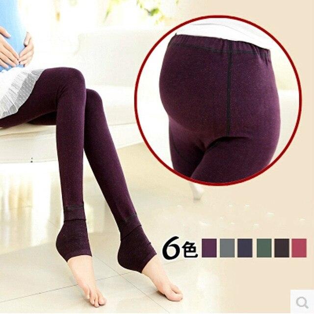 Plus de Terciopelo Mujeres Embarazadas Leggings Maternity Leggings Invierno Embarazo Ropa de Maternidad Embarazadas Pantalones YK35