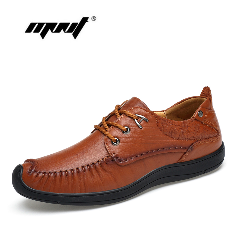 Full grain leather men casual shoes Handmade comfortable breathable men shoes High quality leather shoes men