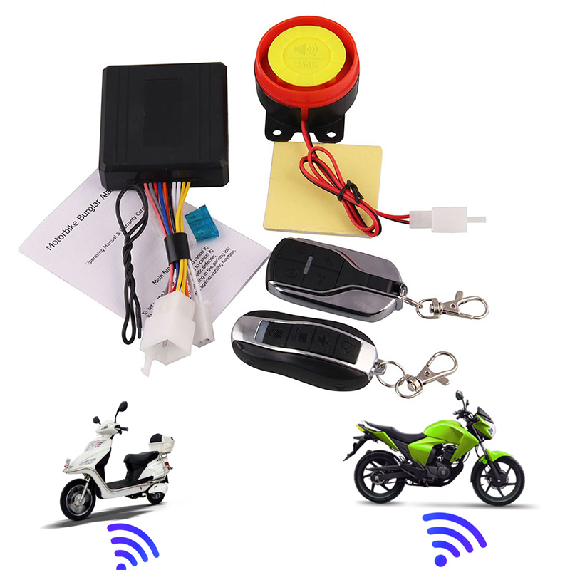 Remote Control Alarm Motorcycle Security System Motorcycle Theft Protection Moto Scooter Alarm System Motorcycle Accessories