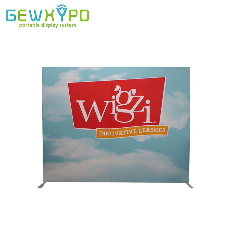 10ft 8ft Square Corners Tension Fabric Printed Banner With Aluminum Frame Exhibition Pop Up Booth Advertising