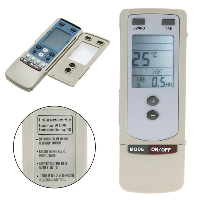 US $4 87 |For GREE y512 y502 1pc LCD Screen A/C Air Conditioner Remote  Control Universal Replacement Remotes Mayitr-in Remote Controls from  Consumer