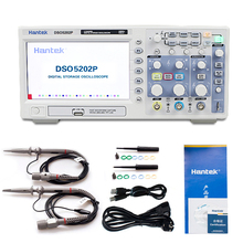 Hantek DSO5202P Professional Digital Storage Oscilloscope 200MHz 2Channels USB Interface 7.0 Inch Portable Oscillographic Device