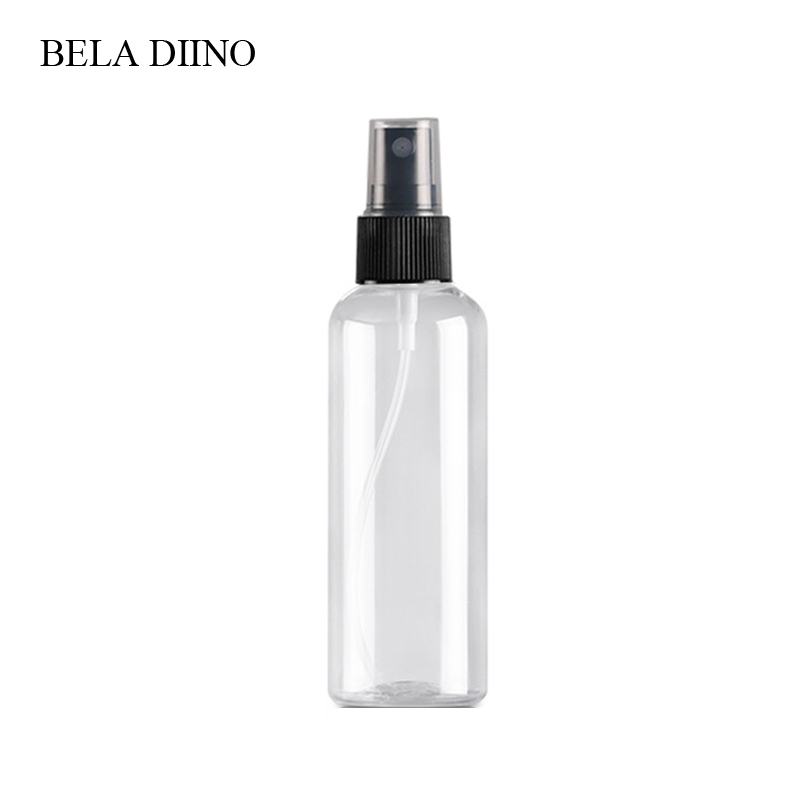 Image 2 - 5Pcs Fine Mist Plastic PET Spray Bottle 100ml Travel Cosmetic Bottles Set Makeup Liquid Container Refillable Perfume Atomizer-in Refillable Bottles from Beauty & Health