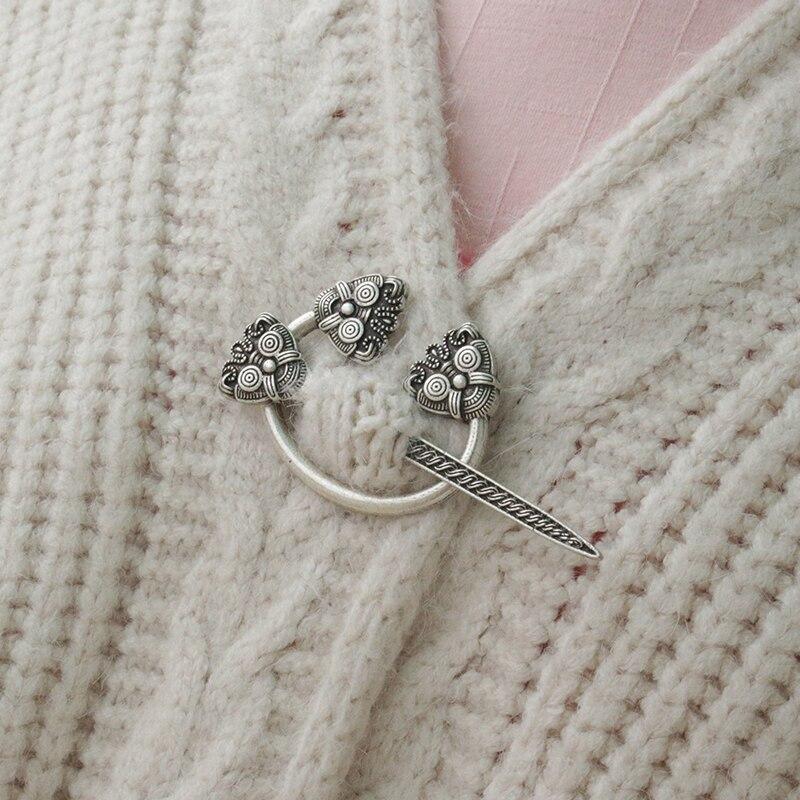 lanseis 1pcs Viking pennanular brooch replica Viking jewelle