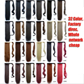 Free Shipping 1 PC 60cm Clip In Ponytail Tail Hair Extension Wrap on Hair Piece Straight Style 100% High quality  Ponytails