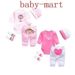 Комплекты одежды для малышей с милым котиком/динозавром, хлопковый комплект одежды для мальчиков, костюм для новорожденных девочек, 4 предм...