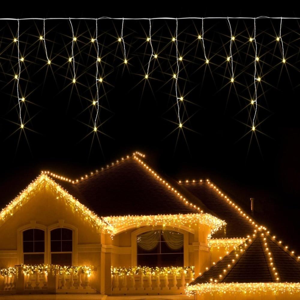 Christmas Window lights LED Curtain Icicle String Light 5m ...
