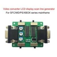 MR-C031 видео выход изображения линия сканирования генератор видео изображение дисплей эффект для MD/PS/xbox для ЖК-аркадная игра машина