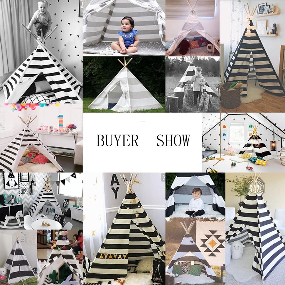 W Mega Biały i czarny kolor dzieci gry pokój namiot Tipi sprzedam z maty XQ31