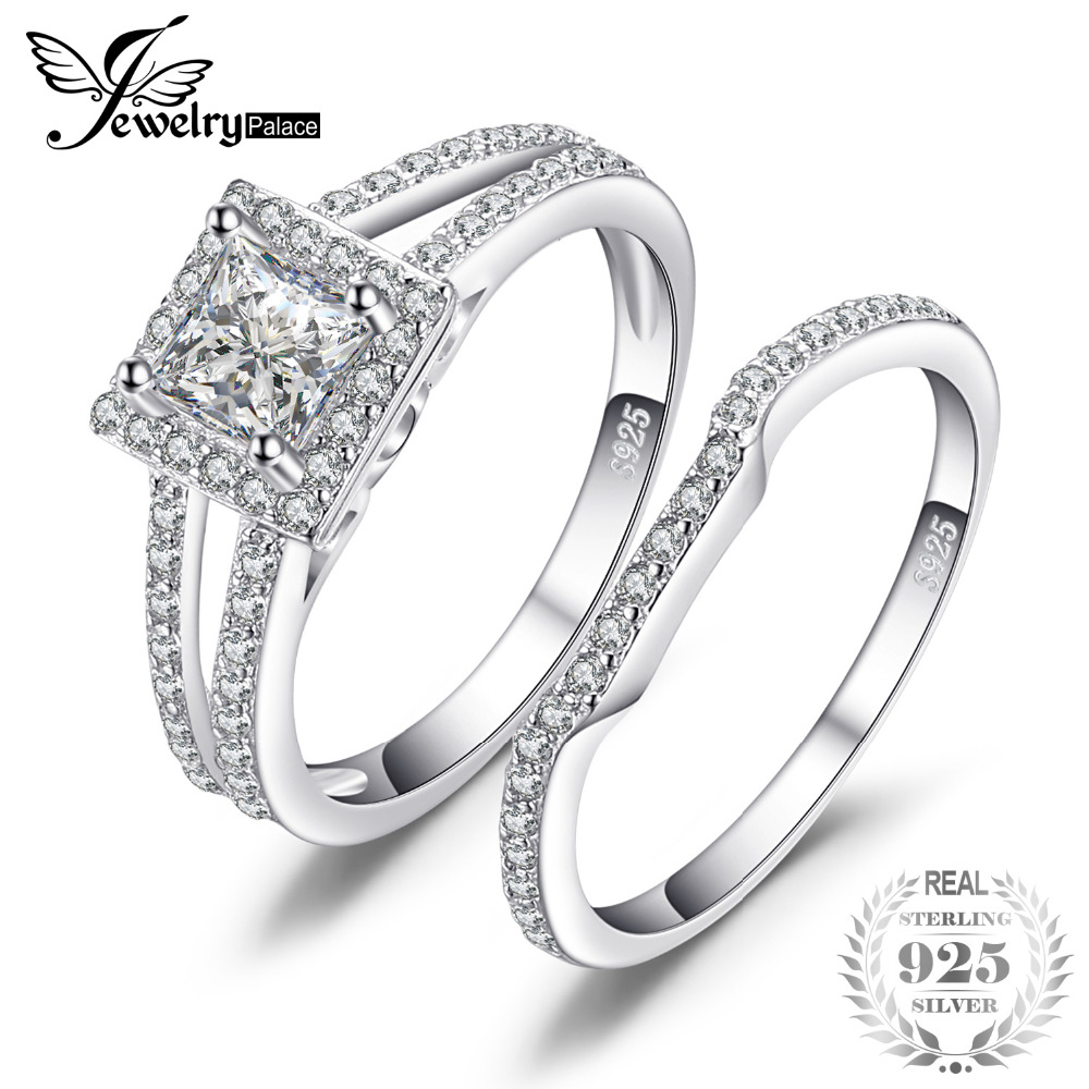 6e09b6df2735a US $19.97 30% OFF|JewelryPalace Wedding Engagement Ring Sets Solid 925  Sterling Silver Rings Cubic Zirconia Fine Jewelry Anniversary Gifts  Women-in ...