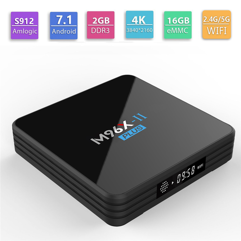 M96X II Plus Smart TV Box Android 7 1 OS Amlogic S912 Octa core 2GB 16GB