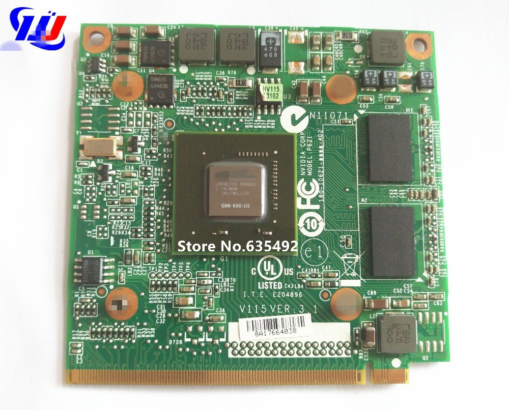 For Acer Aspire 5520G 6930G 7720G 7730G 4630G Laptop n Vidia GeForce 9300M GS 256MB G98-630-U2 DDR2 MXM II Graphic Video Card