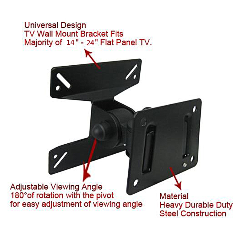 TV Wall Mount Bracket Base Stand Holder 14-24 inch LCD LED 3D Plasma Screen Flat