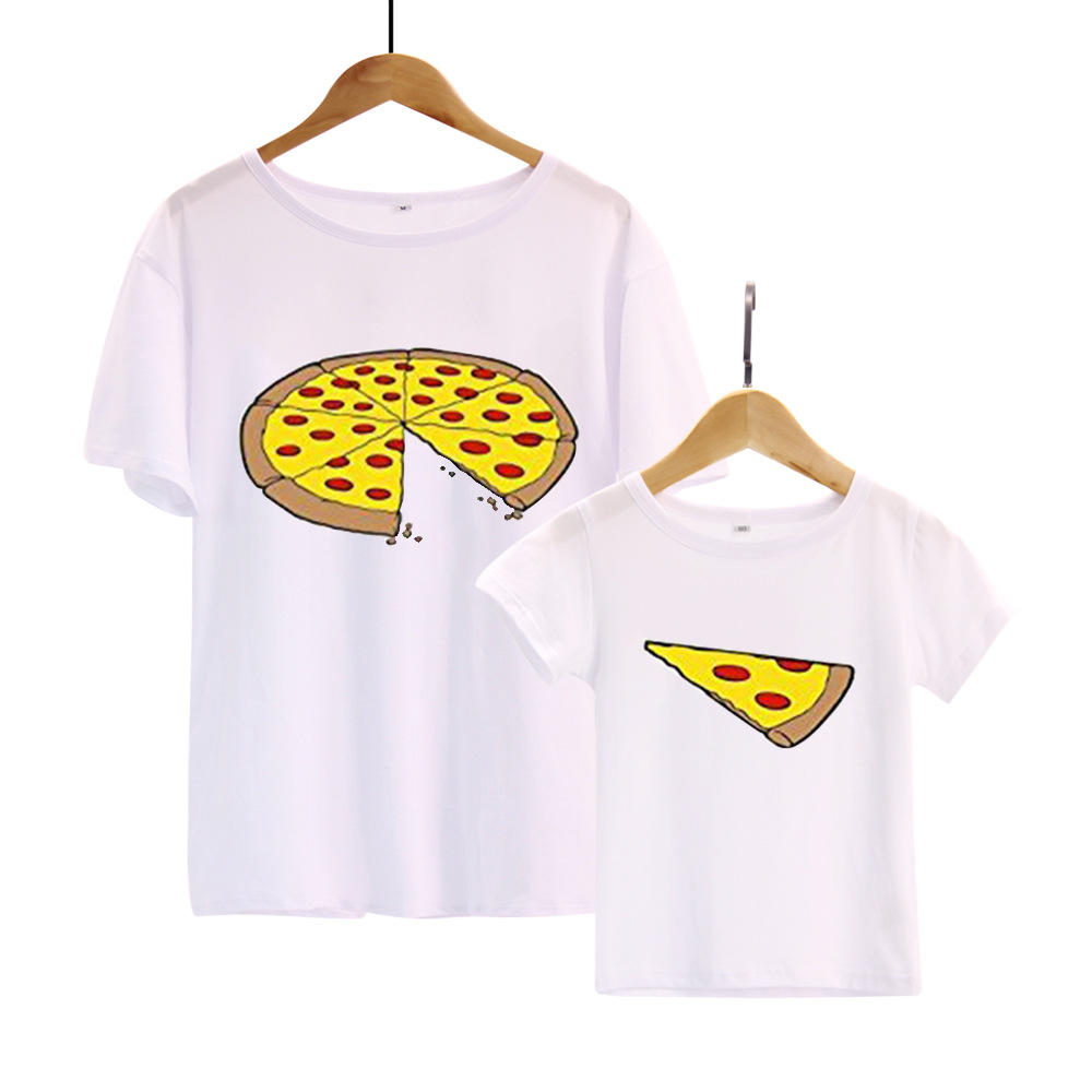 Family Matching T-shirt Short-sleeve Cartoon Printed Familia Father Son Baby T-shirt Family Look Dad Daughter Family Clothing цена 2017