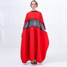 New Design Haircutting Cape With Tranparent Gap For Playing Phone Professional Hair Wrap For Hairdresser Salon Hair Cut Cloth