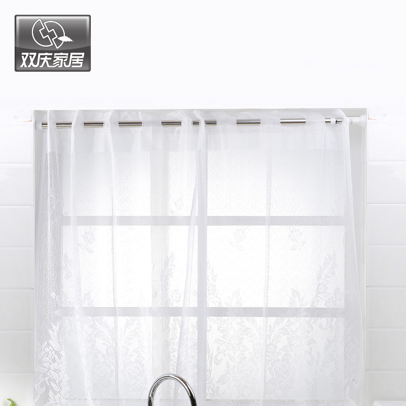 Retractable Shower Curtain Rod Straight Bathroom Curtain Rod Bathroom  Retractable Pole Hole Digging Bathroom Rod Shower Curtain In Shower Curtain  Poles From ...