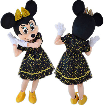 Cute Minnie Mascot Costume Character Fancy Party Dress Cosplay Black Gold Eugen Dress