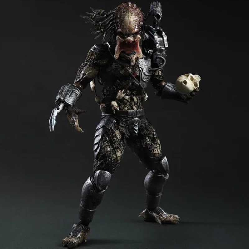 27cm Play Arts Kai Predator Figure Alien Hunter Super Hero Collectible Action Figure Model Christmas Gift Toys for Kid with Box 26cm crazy toys 16th super hero wolverine pvc action figure collectible model toy christmas gift halloween gift
