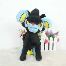 Anime Games Pikachu series new 12inch Luxray plush toy stuffed toys A birthday present for children. Christmas gift toy doll 50cm big ice vulpix plush toys kid doll for children gift soft cute anime pikachu childhood memories birthday present toy