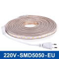 220V LED Strip Light 60LEDs/m Flexible Lights LED Tape Lamp SMD5050 LED Light 1/2/3/4/5/10m High Bright Lighting Waterproof
