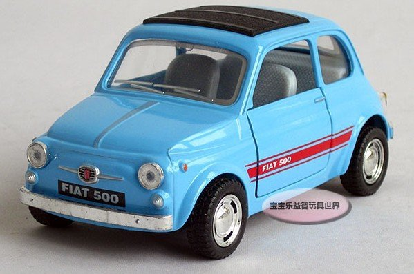 Free shipping--Kinsmart 1:24 Fiat 500/ alloy model car / toy gift Christmas gift car electronics