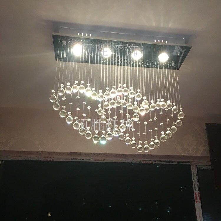 Us 185 0 Restaurant Lamp Modern Crystal Light Double Heart Pendant Bedroom Sj1659 In Lights From