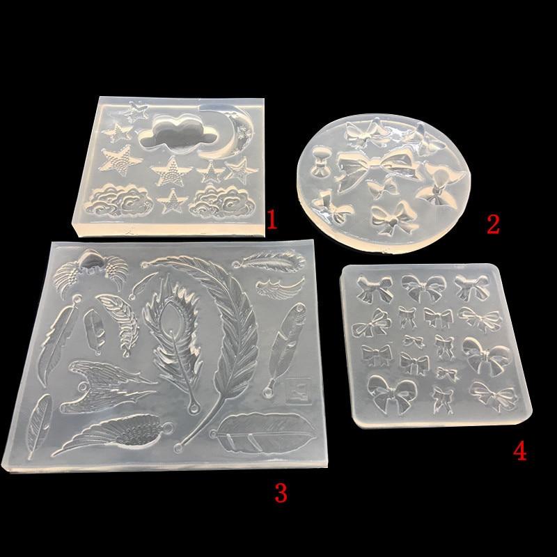 Жидкая гелевая форма Moon Cloud Feather, силиконовая форма для украшения тортов, шоколадная глина, 3d настенная панель, бетонные формы|Глиняные формы|   | АлиЭкспресс