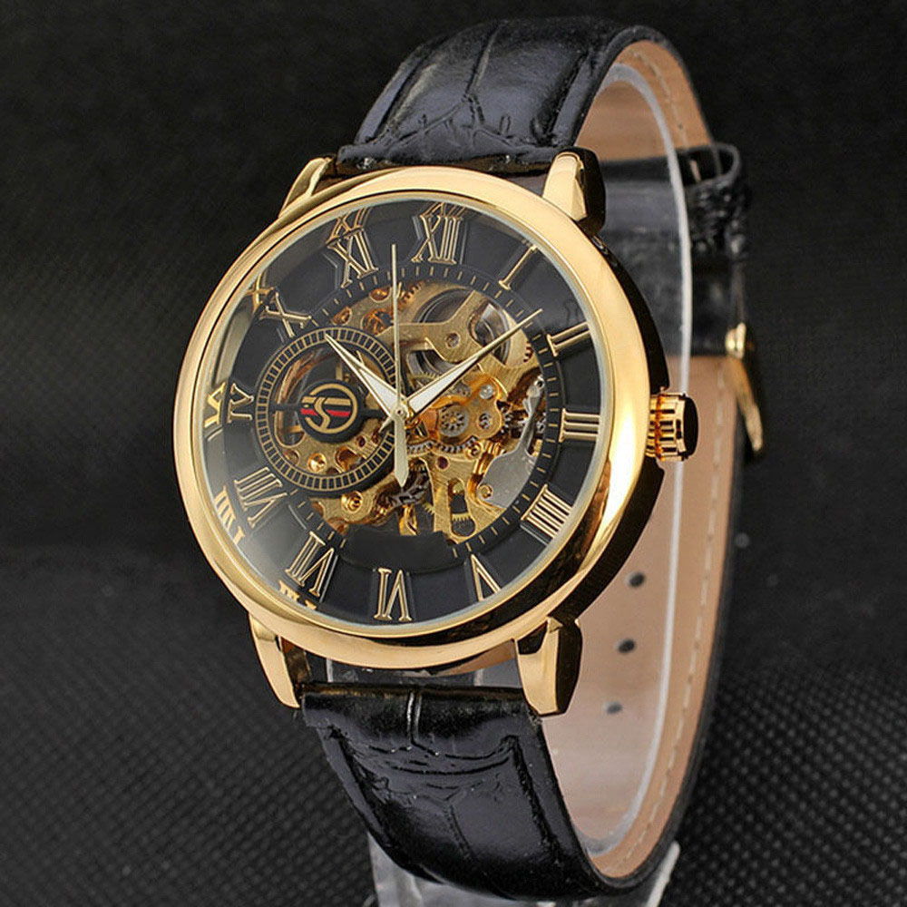Mens Steampunk Skeleton Stainless Steel Automatic Mechanical Wrist Watch #3304 Brand New Luxury High Quality Free Shipping paradise 2016 classic new men black skeleton automatic mechanical stainless steel wrist watch free shipping may23