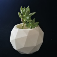 3D Concrete Mould Vase Molds Silica gel Garden flower pot SILICONE Mold Geodesic Sphere MEDIUM Candle Mold