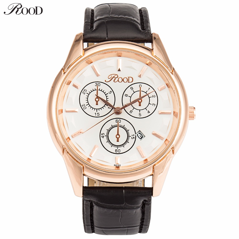 Fashion Watches Men s Wristwatches Luxury Brand Top Quality 2016 Men Leather Strap Watch Gold Man