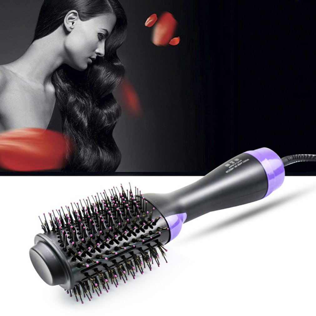 Comfortable Professional Hairdryer Comb Multifunctional Infrared Negative Ion Hot Air Comb Straight Hair Curling Comb
